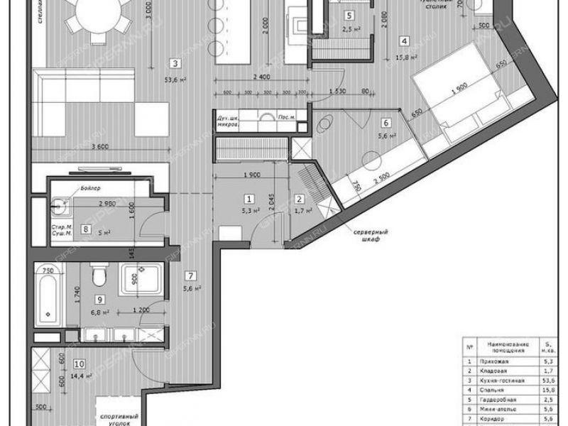 трёхкомнатная квартира на бульваре Мещерский дом 9