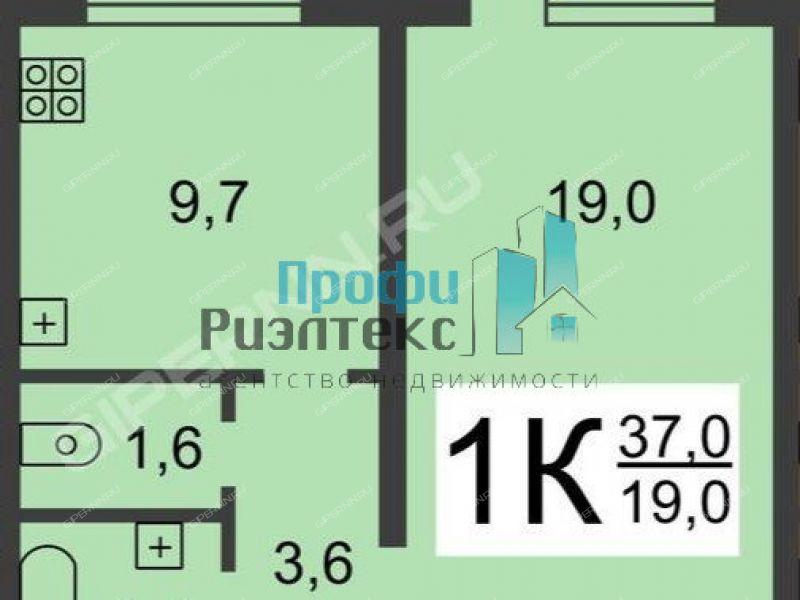 однокомнатная квартира на улице Ванеева дом 110/30
