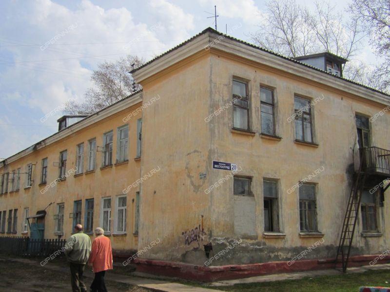 комната в доме 20 на улице Мостотряда