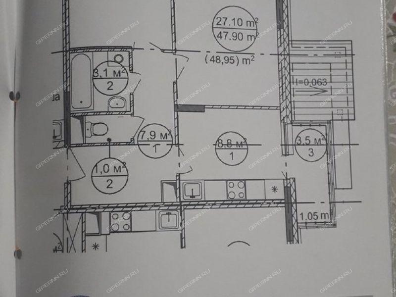 двухкомнатная квартира в новостройке на Вокзальная улица деревня Новинки