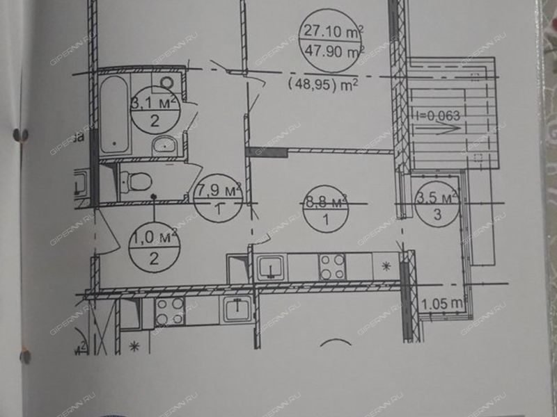 двухкомнатная квартира на Вокзальная улица 5 деревня Новинки