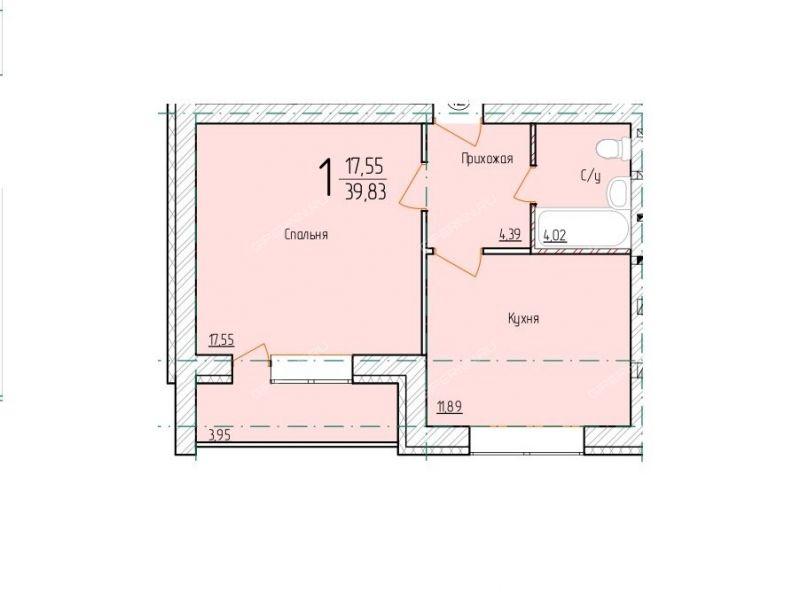 однокомнатная квартира на Арзамасской улице дом 13 деревня Берёзовка